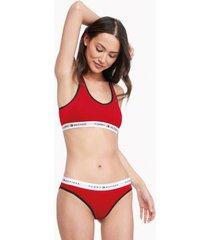 tommy hilfiger women's soft bralette red - s