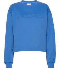 alba sweater sweat-shirt trui blauw blanche