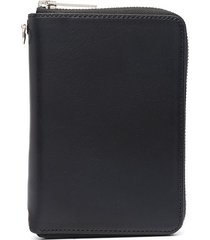 yohji yamamoto multi-pocket leather wallet - black