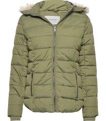 bybomina jacket 2 - fodrad jacka grön b.young