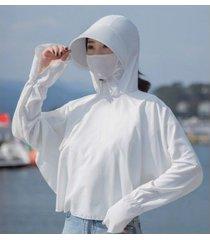 protección solar de verano para mujer, sombrero para el sol blanco