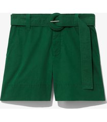 proenza schouler white label washed cotton belted shorts spring green 4