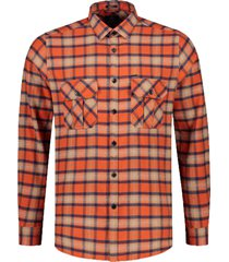 dstrezzed overhemd met ruit oranje 303374/439