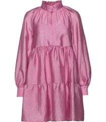 jasmine, 784 textured poly korte jurk roze stine goya