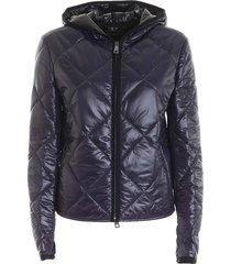 gewatteerde jas met hoodie