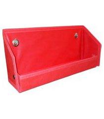 revisteiro prateleira montessoriano organibox - vermelha