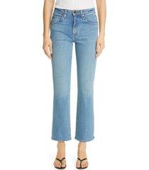 women's khaite high waist flare jeans, size 28 - blue
