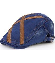 cappello per berretto da uomo lavato in denim con visiera casual da esterno