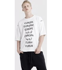 t-shirt oversized tee refugee white