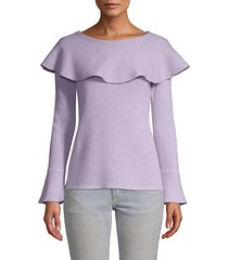 flounced cashmere sweater