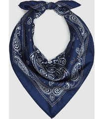 reiss pisa - silk paisley printed bandana in navy, mens