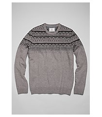 1905 collection wool blend fairisle crew neck men's sweater clearance