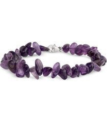 aquamarine beaded bracelet (60 ct. t.w.) in sterling silver (also available in amethyst)