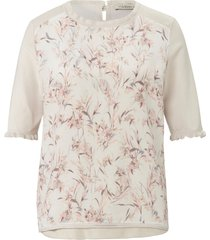 trui met korte mouwen en grassenprint van uta raasch wit