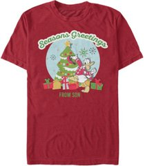fifth sun men's greetings from son short sleeve t-shirt