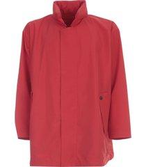 homme plissé issey miyake oversized jacket high neck w/rounded bottom