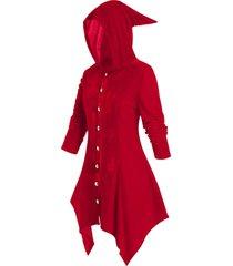 plus size hooded velvet handkerchief coat