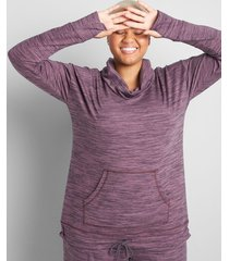 lane bryant women's livi drawstring-hem top 10/12 light purple