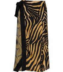 una knälång kjol multi/mönstrad munthe