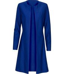 diva blazer/jas model twilight coat kleur kobaltblauw