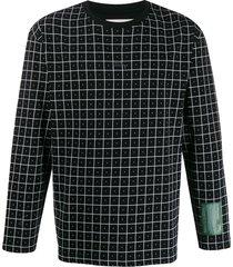 a-cold-wall* grid-print sweatshirt - black