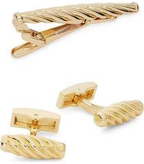 3-piece cufflinks & tie bar set