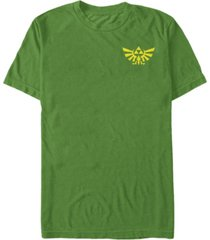 fifth sun nintendo men's legend of zelda royal crest left chest pocket logo short sleeve t-shirt