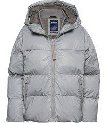 short padded hood jacket gevoerd jack grijs svea