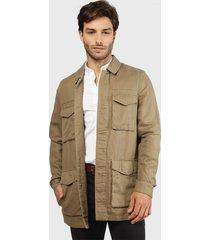 chaqueta rockford jck-luton-spm20 marrón - calce regular