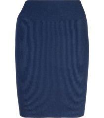 alexandra golovanoff fitted sweater skirt - blue