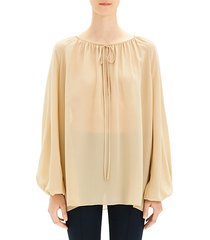gathered silk tunic
