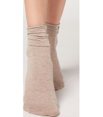 calzedonia non-elastic cotton ankle socks woman brown size 39-41