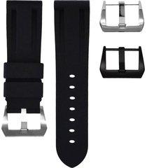 horus watch straps pin-buckle watch strap 24mm - black