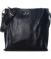 cartera  de cuero negra xl extra large vicky cartera