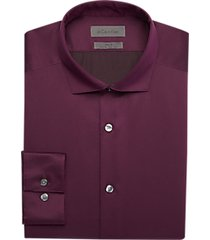 calvin klein infinite burgundy slim fit dress shirt