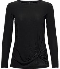 blouse t-shirts & tops long-sleeved zwart ilse jacobsen