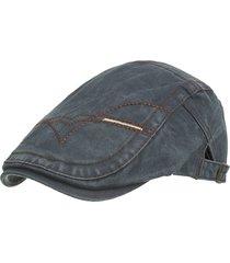 cappellino per berretti da uomo con cappuccio regolabile in cotone lavato primavera e estate