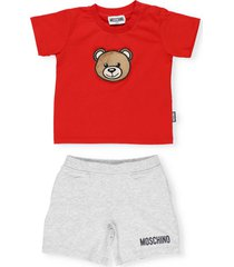 moschino teddy bear two pieces tracksuit set