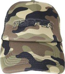 gorra marrón topper cap trucker 0 21037