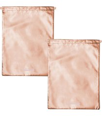 mytagalongs odyssey 2-piece drawstring bag set - rose gold
