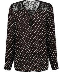 blus med spets på axlarna dress in svart