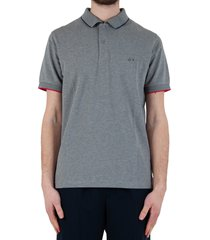 polo small stripes collar el. - grey/white