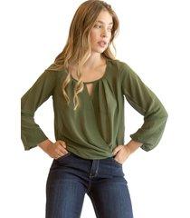 blusa fernanda verde militar racaventura