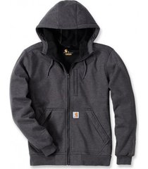 carhartt vest men wind fighter hooded sweatshirt carbon heather-s