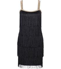 abito con frange (nero) - bodyflirt boutique