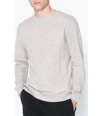 premium by jack & jones jprpost knit crew neck sts tröjor ljus grå