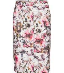 skirt short woven fa knälång kjol rosa gerry weber edition