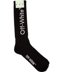 off-white man black diag socks