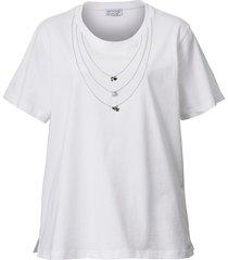 topp angel of style vit::silverfärgad