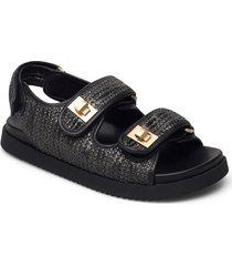 lockstockk shoes summer shoes flat sandals svart dune london